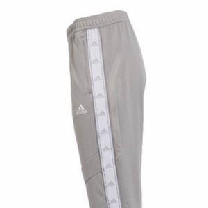Team Mid Grey & White Side-Tape Tiro Track Pants